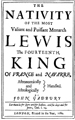 The Nativity of Lewis the Fourteenth, King of France by Gadbury, John