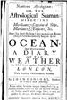Nauticum Astrologicum (The Astrological Seaman) by Gadbury, John