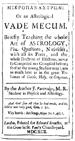 Mikropanastron or Vade Mecum by Partridge, John