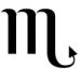 Astrological glyph for the zodiac sign Scorpio