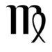 Astrological glyph for the zodiac sign Virgo